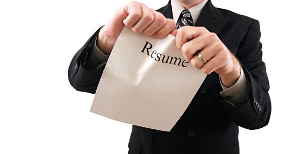 resume mistakes, blunders